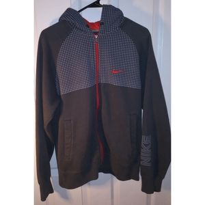 Nike hooded zipup jacket size medium
